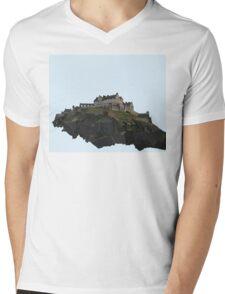 Edinburgh Castle Mens V-Neck T-Shirt