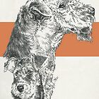 Airedale Terrier, Father & Son by BarbBarcikKeith
