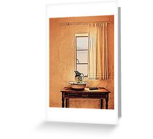 A Sight of an Antique Vintage Bathroom... Greeting Card