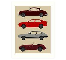 The Car's The Star: UK Detectives Art Print