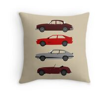 The Car's The Star: UK Detectives Throw Pillow