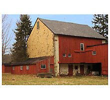 Red Barn In Winter Photographic Print