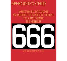 Aphrodite's Child - 666 Photographic Print