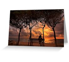 Sunset at the beach of Zacharo - Peloponnese Greeting Card