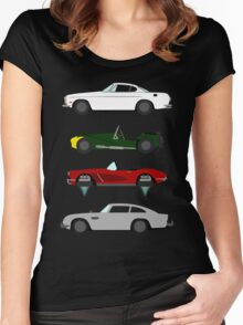 The Car's The Star: Spies Women's Fitted Scoop T-Shirt
