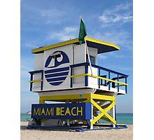 """Miami Beach Life Guard Stand"" Photographic Print"