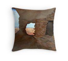 """Anasazi Grainery"" Throw Pillow"