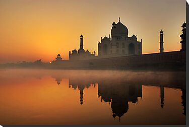 Taj Mahal at Sunrise by Heather Prince ( Hartkamp )