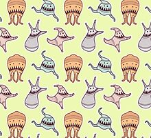 sticker monster - pattern 6 by freshinkstain