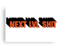 Next Level Shit Game Pc Xbox PS Gamer Gift T-Shirts Canvas Print