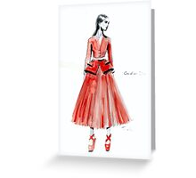 Red Dior Greeting Card