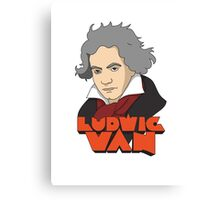 The Old Ludwig Van Canvas Print