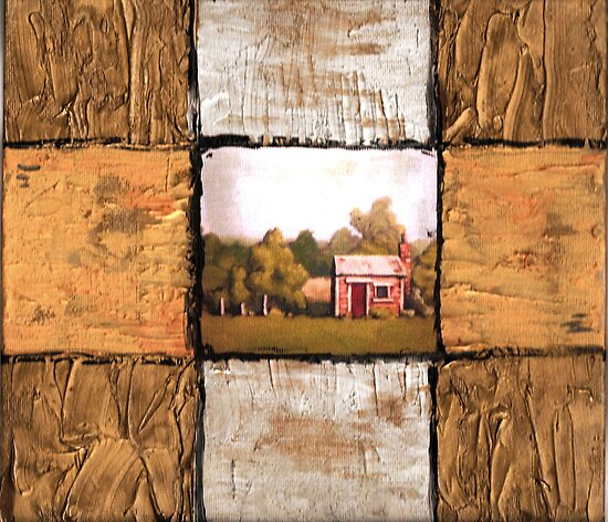 the shed - textured abstract version by Alleycatsgarden