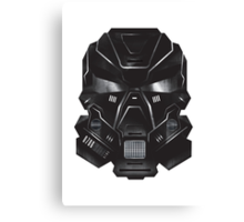 Black Metal Future Fighter Sci-fi Concept Art Canvas Print