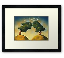the kissing trees Framed Print