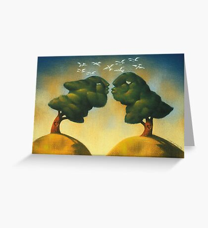the kissing trees Greeting Card