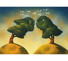 the kissing trees Photographic Print