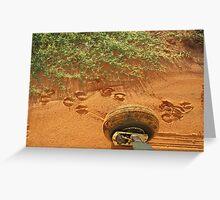 Hoofprints on the airstrip Greeting Card