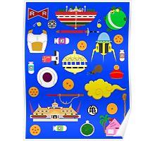 Dragon Ball Icons Poster