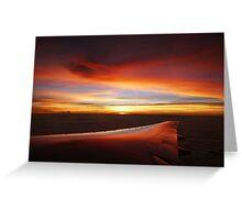 bangkok sunset Greeting Card
