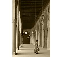 Man at Ibn Tulun Mosque, Cairo Photographic Print