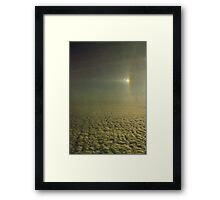 Sundog with a partially visible section of a 22 degree Halo over Antarctica.... Framed Print