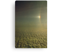 Sundog with a partially visible section of a 22 degree Halo over Antarctica.... Canvas Print