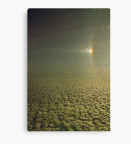 Sundog with a partially visible section of a 22 degree Halo over Antarctica.... Canvas Print