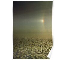 Sundog with a partially visible section of a 22 degree Halo over Antarctica.... Poster