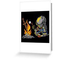 on an open bonfire Greeting Card
