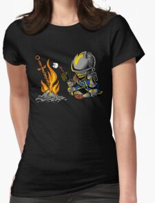 on an open bonfire Womens Fitted T-Shirt