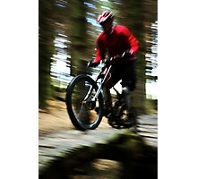 The Blurred Biker Project Photographic Print