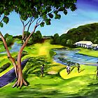 the 18th green at the Hyatt Coolum by robert (bob) gammage
