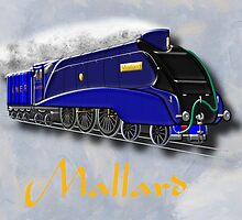 Mallard the Steam Locomotive by Dennis Melling