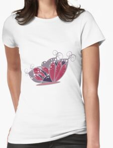 Cartoon fantasy butterfly 3 Womens Fitted T-Shirt