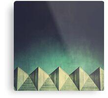 Urban Geometric Landscape Skyline Metal Print