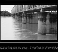 Burdekin bridge against flooding waters by jade77green