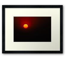 Typical Sunset Framed Print