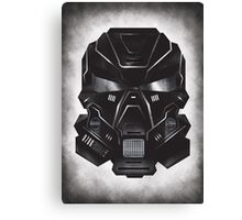 Black Metal Future Fighter on distressed background Canvas Print