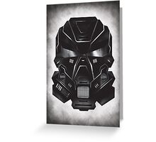 Black Metal Future Fighter on distressed background Greeting Card