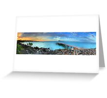 Mauritius Jetty Sunset Greeting Card