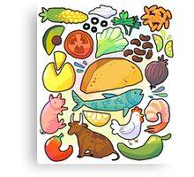 What Makes a Taco Canvas Print