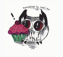 Loki - the overwhelmed by cake owl Kids Tee