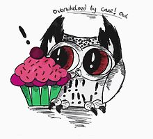Loki - the overwhelmed by cake owl by AderynValentine