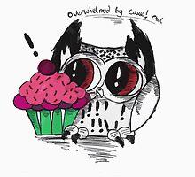 Loki - the overwhelmed by cake owl by AderynValentine