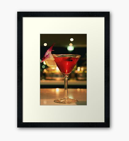 My Cocktail Framed Print