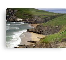The sandy beach at Couminole Metal Print