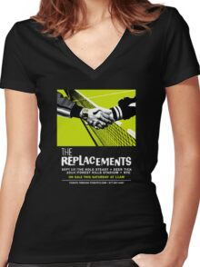 The Replacements Forest Hills show Women's Fitted V-Neck T-Shirt