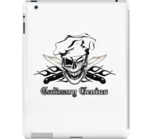 Chef Skull 7: Culinary Genius 3 black flames iPad Case/Skin
