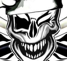 Chef Skull 7: Culinary Genius 3 black flames Sticker